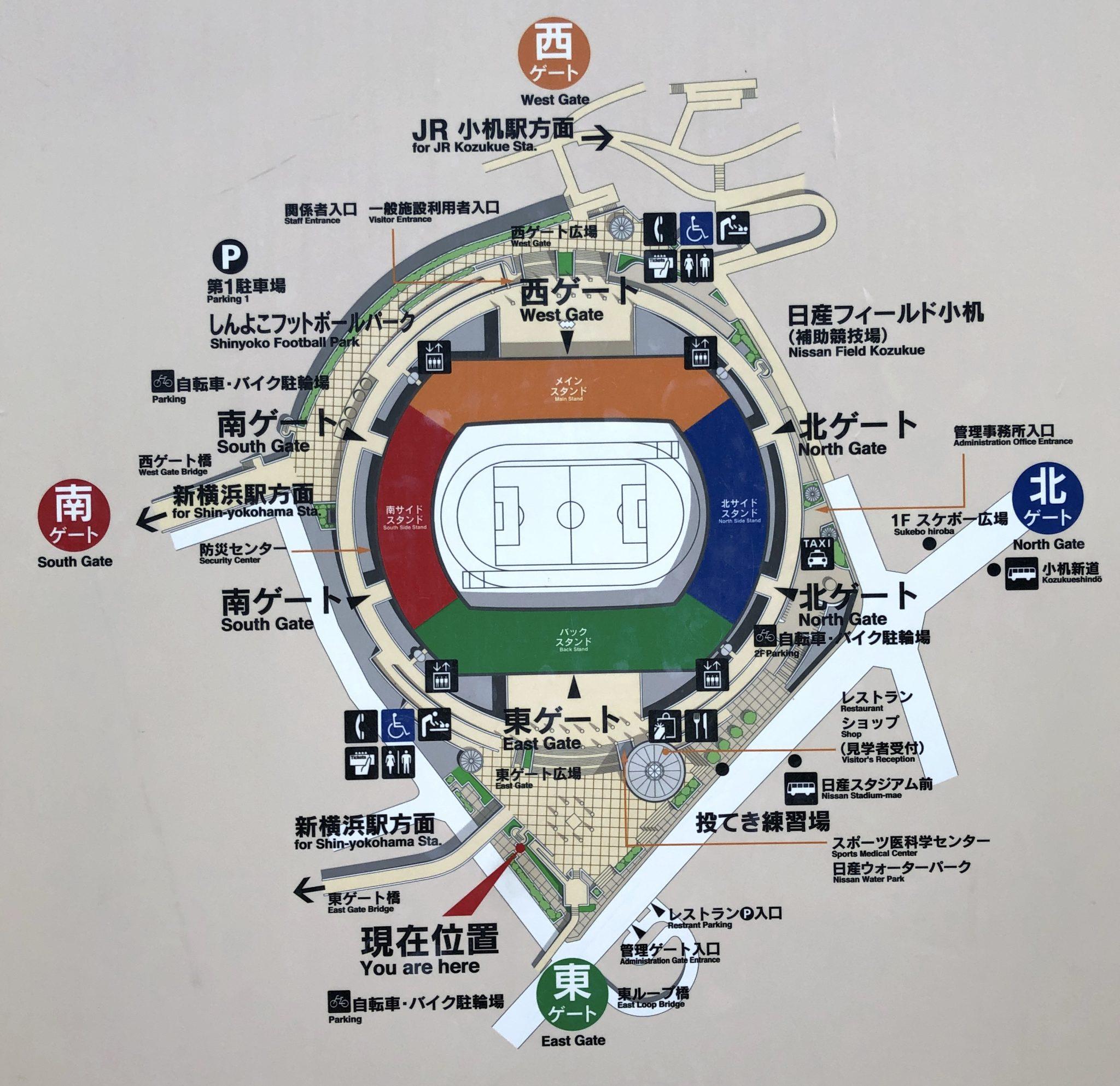 日産スタジアムマップ